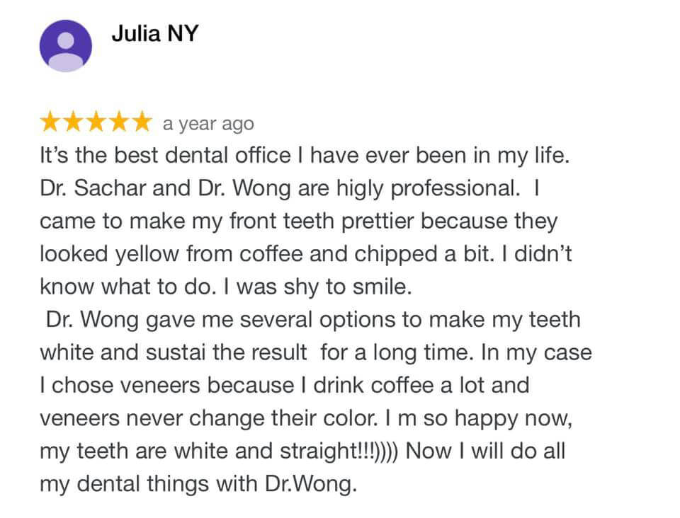 Cosmetic Dentist NYC Review