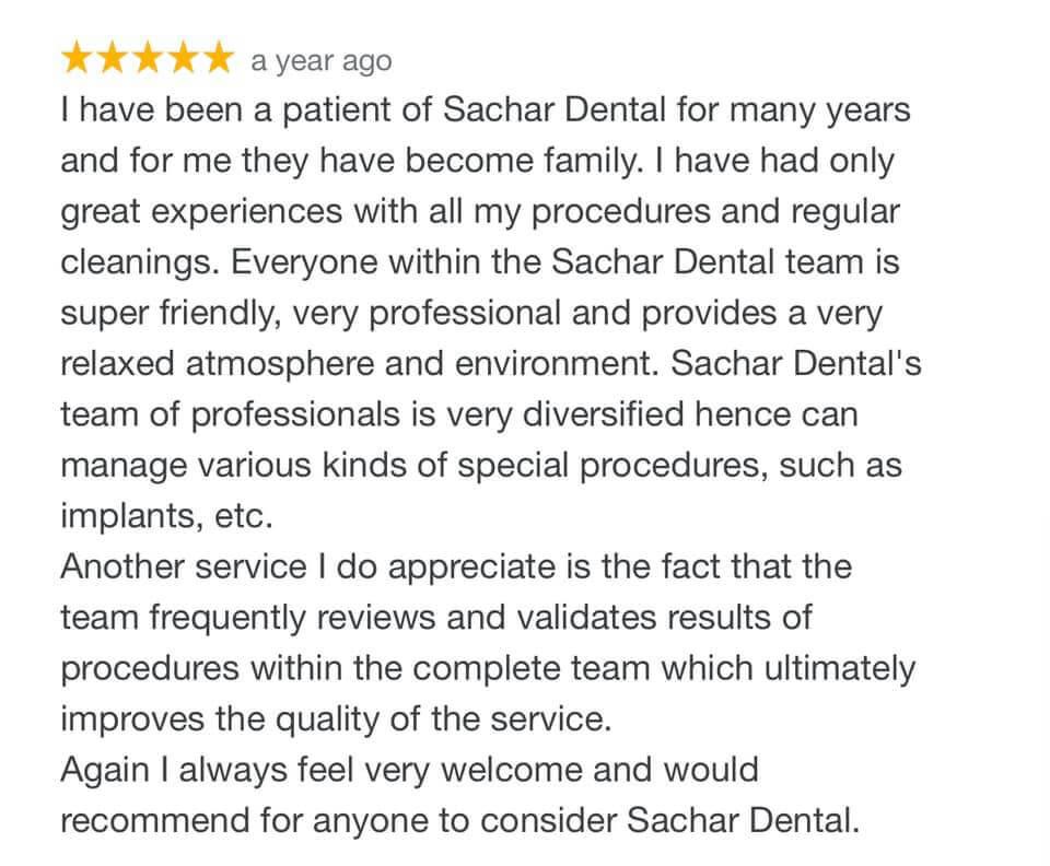 Sachar Dental NYC Review